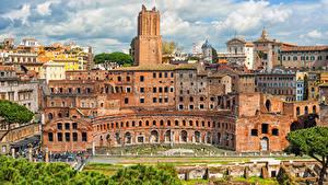 Картинка Италия Рим Дома Trajans Market