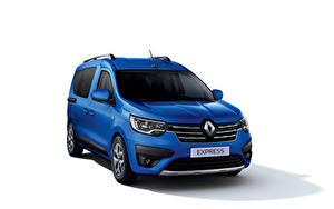 Фотографии Renault Минивэн Синих Металлик Белом фоне Express, 2021 машина