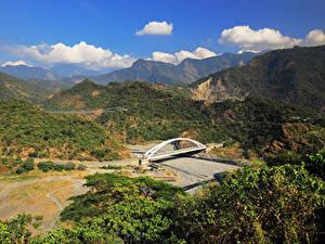 Фотография Тайвань Горы Реки Мосты
