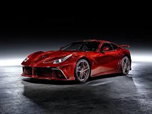Обои Ferrari Тюнинг Красный Металлик Купе Mansory, Berlinetta, F12, 2013, La Revoluzione Автомобили