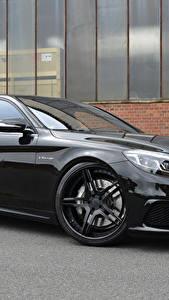 Фото Мерседес бенц Черный Металлик MEC Design, AMG, S-Class, W222 Автомобили
