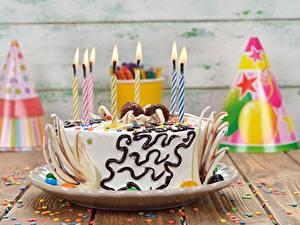 Обои Торты День рождения Свечи