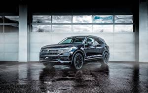 Картинка Volkswagen Черных Металлик 2018-19 ABT Touareg Авто