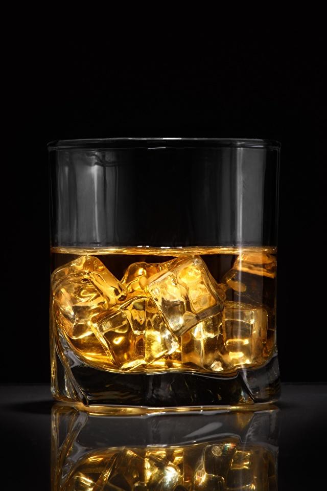 Картинка Лед Виски стакана Еда 640x960 для мобильного телефона льда Стакан стакане Пища Продукты питания