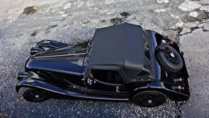 Картинка Morgan Motor Company Черных Металлик Сверху Кабриолет 2011 4-4 75th anniversary Автомобили