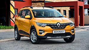 Обои для рабочего стола Renault Желтые Металлик 2020 Triber авто