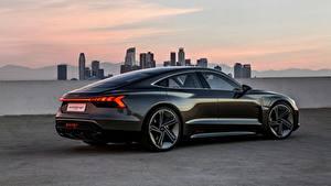 Фотографии Audi Черных Купе 2018 e-tron GT Concept авто