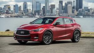 Обои Инфинити Бордовый Металлик 2017 QX30S 2.0t Автомобили