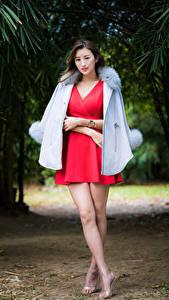 Картинки Азиатки Платья Ног девушка