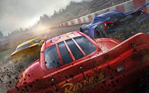 Фотография Тачки 3 Красный Сзади Lightning McQueen, Cruz RamireJackson Stormz