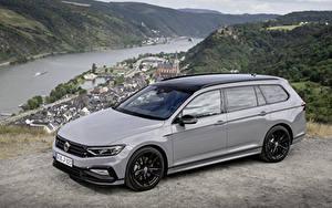 Обои Volkswagen Серый Металлик Универсал 2019 Passat Variant R-Line Edition