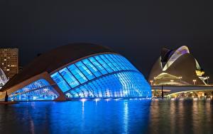 Фотографии Испания Ночные Valencia, Ciudad de las Artes y las Ciencias