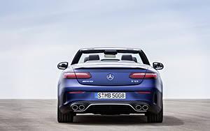 Картинка Mercedes-Benz Кабриолет Синяя Металлик Сзади E 53 4MATIC, Cabrio Worldwide, A238, 2020 Автомобили