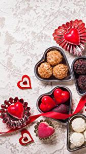Фотография День святого Валентина Сладости Конфеты Сердце Ленточка