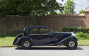Обои Винтаж Черная Сбоку Lagonda M45 Saloon, 1935 Автомобили