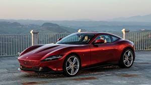 Фотография Ferrari Купе Бордовый Металлик Roma, 2020 машины