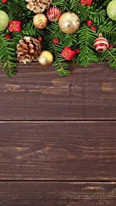 Картинка Рождество Доски Шар Шишки