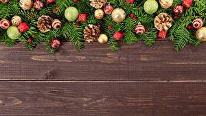 Картинка Рождество Доски Шар Шишка