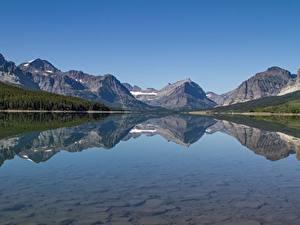 Фото Америка Озеро Гора Пейзаж Sherburne County, Minnesota