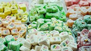 Фотографии Сладости Много Мармелад Лукум Turkish candy