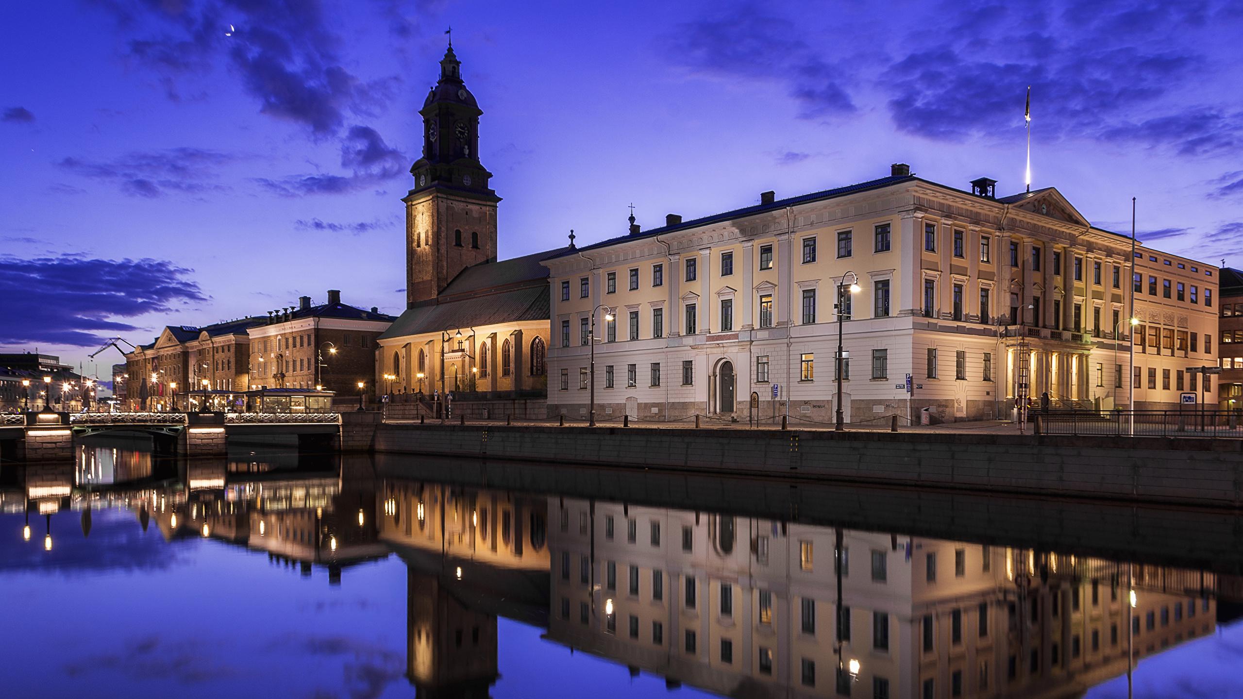 Обои Вечер, швеция, гетеборг. Города foto 15
