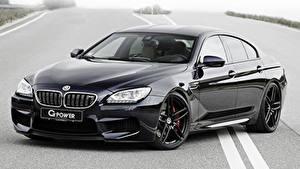 Обои BMW Черная Металлик Купе G-POWER F06, BMW автомобиль