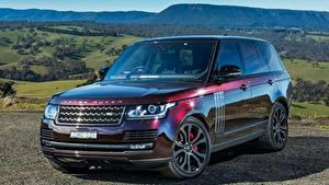 Фотографии Land Rover Бордовый Металлик 2016-17 SVAutobiography автомобиль
