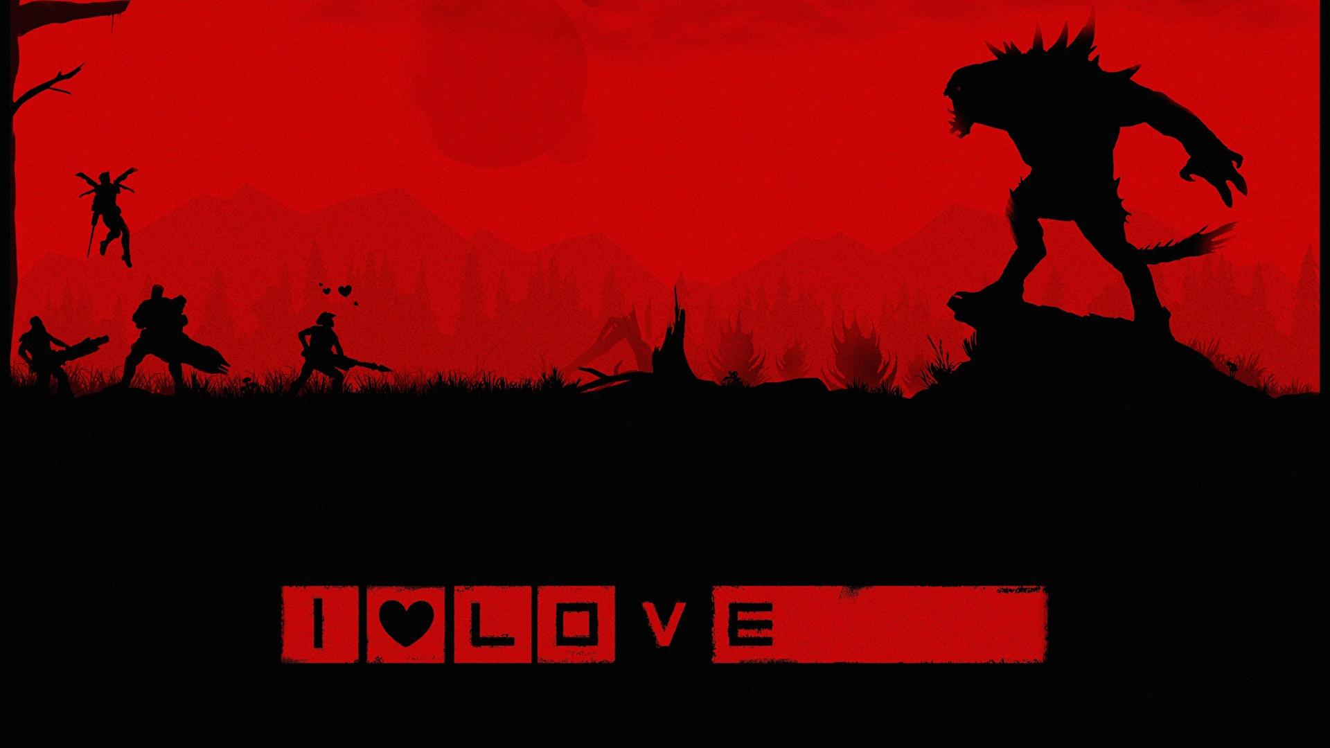 Картинка Evolve игра чудовище воины силуэта Stage 2 Игры 1920x1080 монстр Монстры воин Воители Силуэт силуэты компьютерная игра
