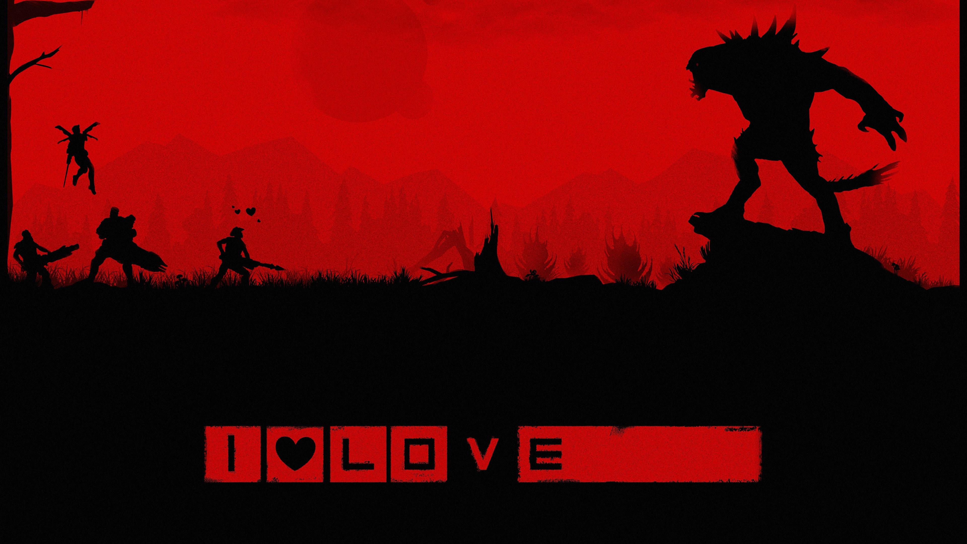 Картинка Evolve игра чудовище воины силуэта Stage 2 Игры 3840x2160 монстр Монстры воин Воители Силуэт силуэты компьютерная игра