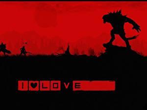 Картинка Evolve игра Чудовище Воины Силуэт Stage 2 компьютерная игра