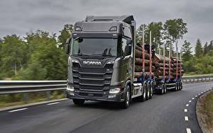 Обои Грузовики Scania Серый S 730