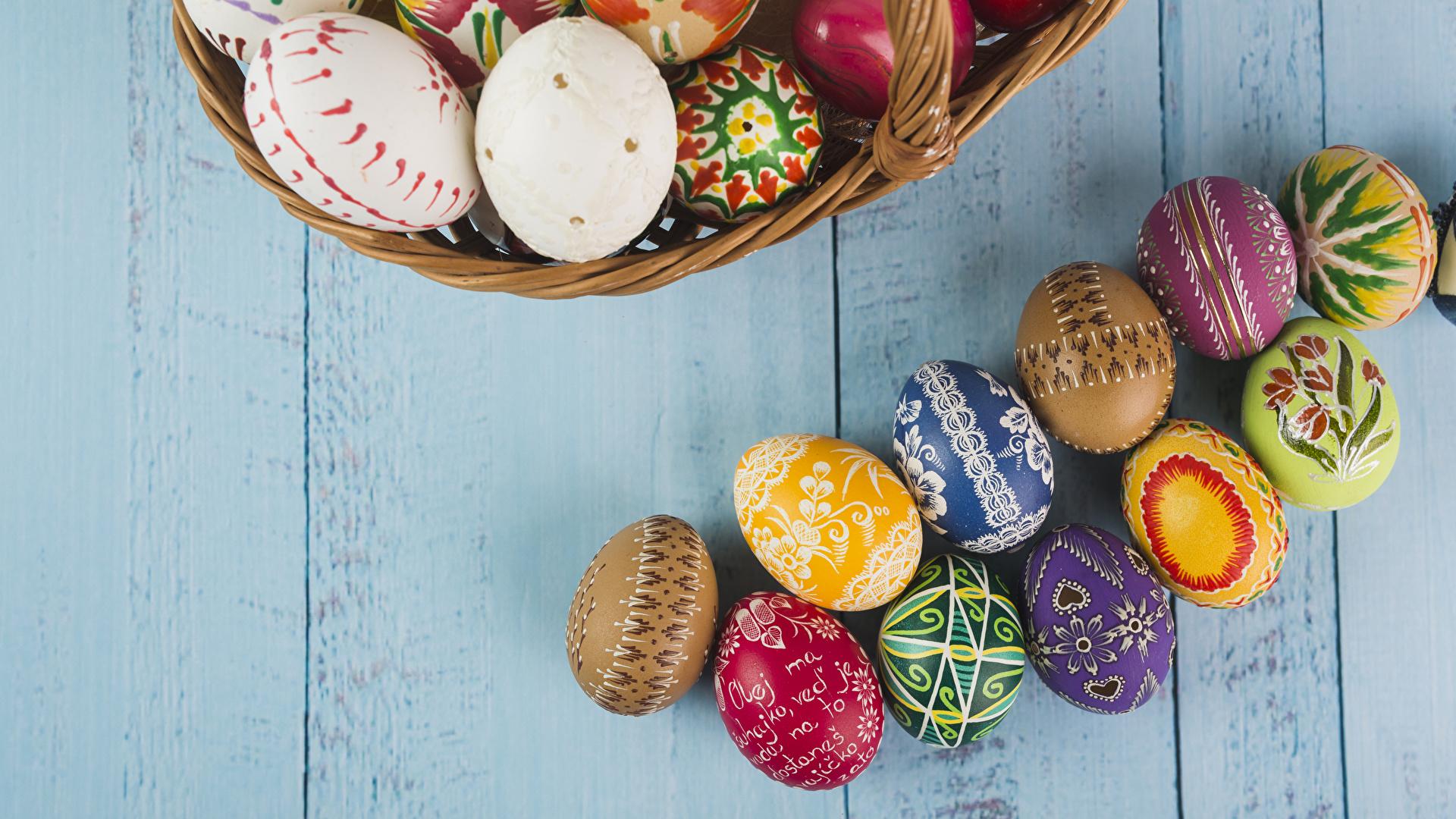 Картинки Пасха яйцами Доски Дизайн 1920x1080 яиц Яйца яйцо дизайна