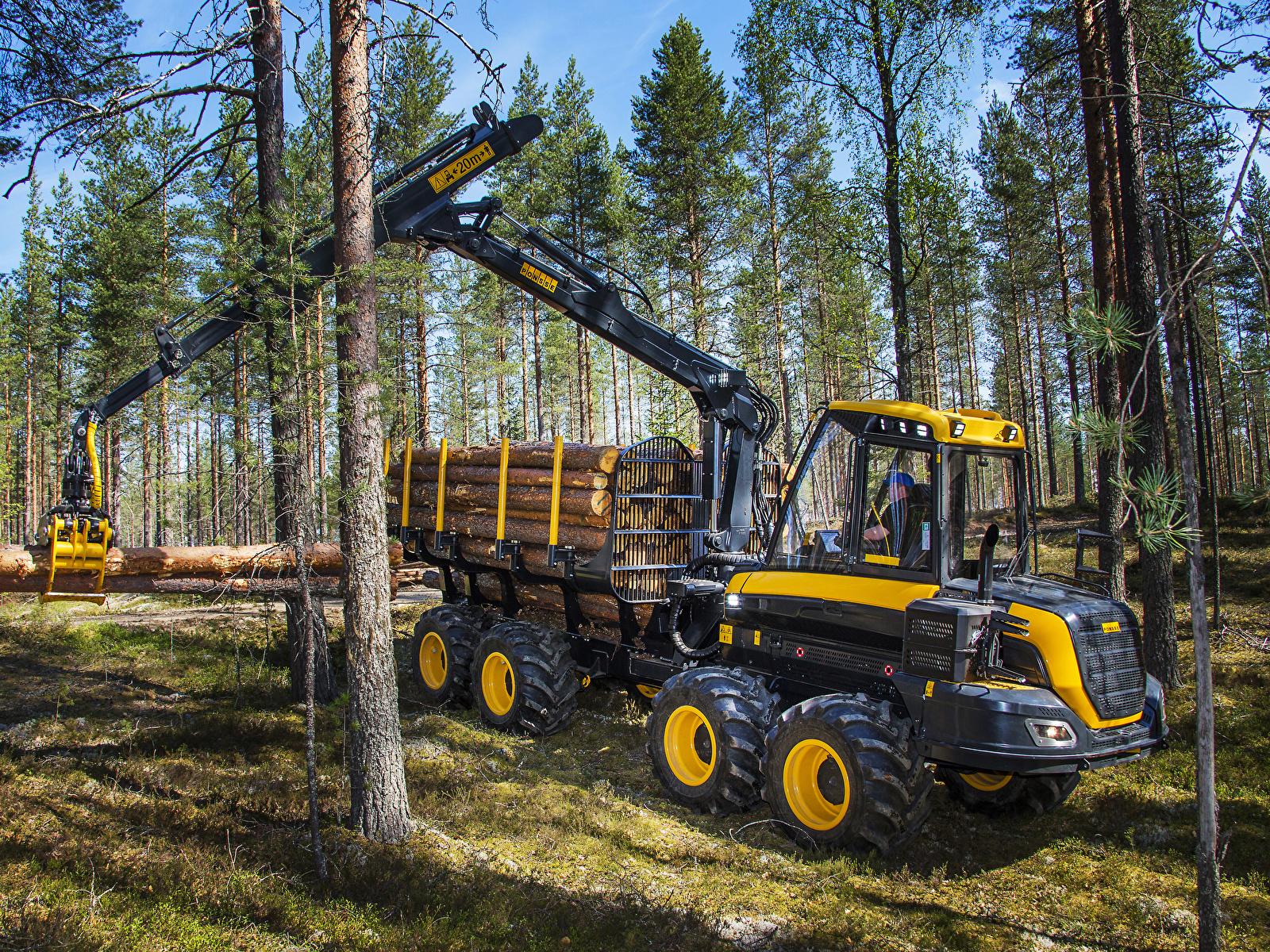 Фотографии Форвардер 2014-17 Ponsse Wisent 8w бревно лес 1600x1200 Бревна Леса