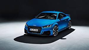 Обои Ауди Металлик Синяя Купе TT RS, 2020 авто