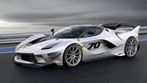 Обои Феррари Серебристый 2018 FXX-K Evo Автомобили