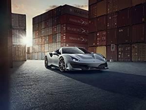 Фотографии Ferrari Серый Металлик Купе 488 Pista