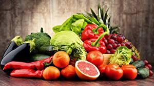 Фото Фрукты Овощи Пища