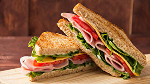 Фотография Фастфуд Бутерброд Хлеб 2