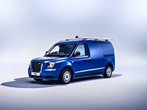 Обои Синий Металлик Фургон LEVC VN5, 2020 автомобиль