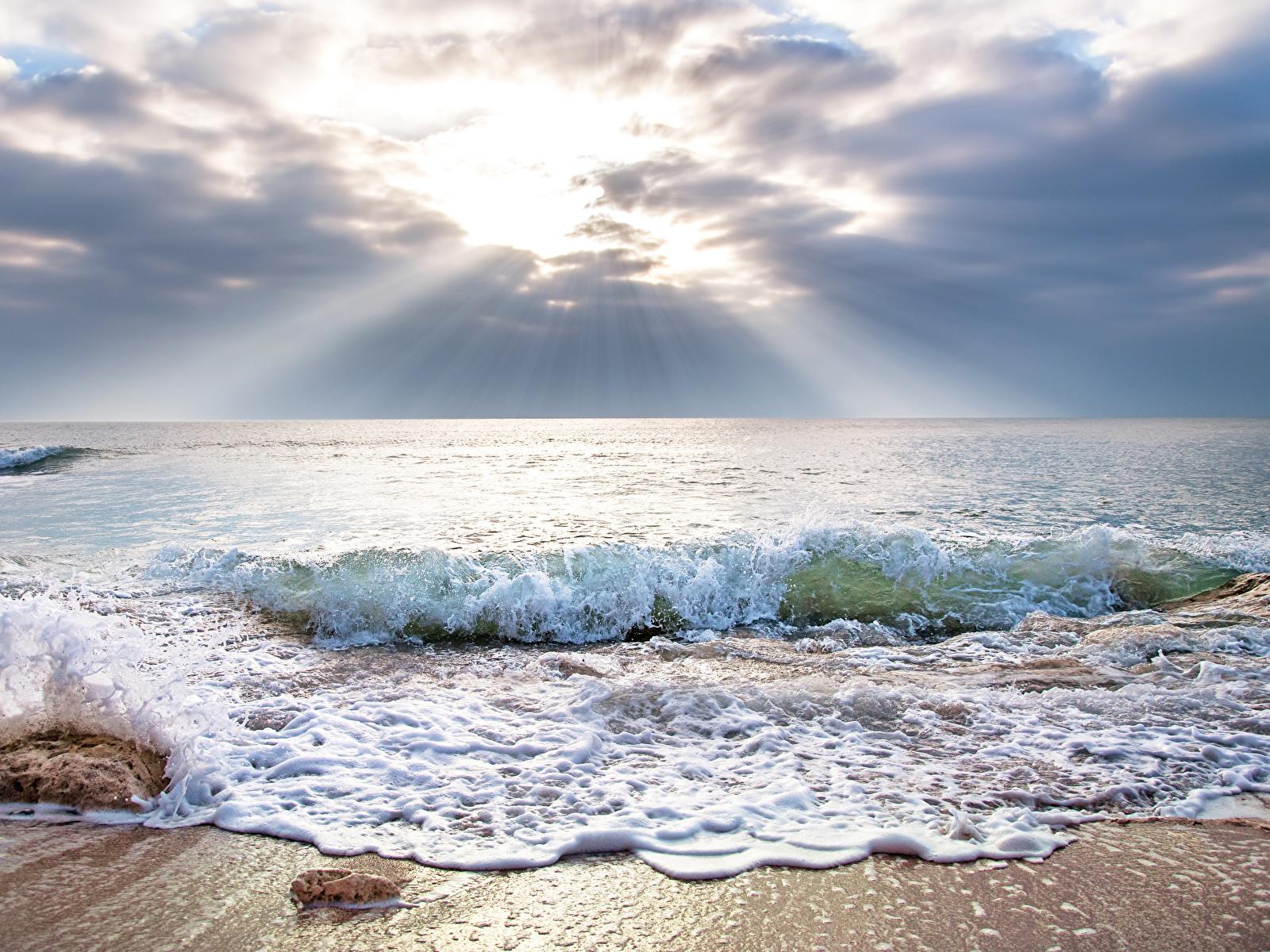 Обои волны, горизонт. Природа foto 7