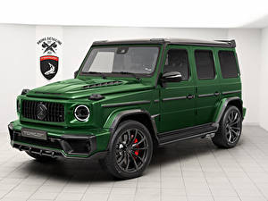 Картинки Мерседес бенц Зеленый Внедорожник 2019 TopCar G-Klasse Inferno Авто