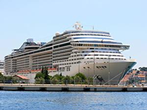 Фото Пристань Корабль Круизный лайнер
