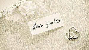 Фотография Розы День всех влюблённых Английский Кольцо Двое love you