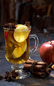 Обои Напитки Яблоки Корица Бадьян звезда аниса Кружки Пища
