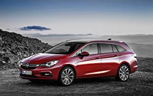 Фотографии Opel Красных Универсал Tourer, Astra Природа