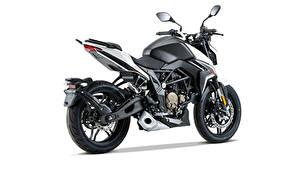 Картинки Черная Сбоку Белый фон Voge 300 R, 2020 мотоцикл