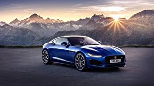 Фото Гора Jaguar Солнце Синий Металлик Купе F-Type R, 2021 машины