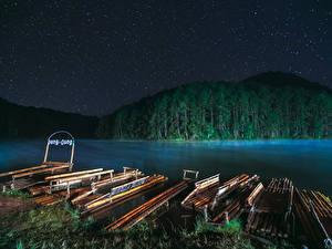 Фотография Таиланд Реки Леса Пирсы Ночь Mae Hong Son