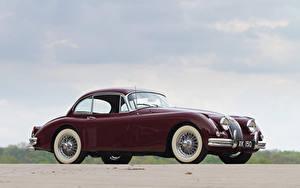 Фотографии Ягуар Бордовый Металлик 1958-61 Jaguar XK150 Fixed Head Coupe Авто