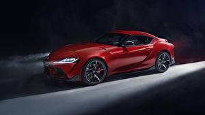 Обои Тойота Красный Supra 2019 Авто